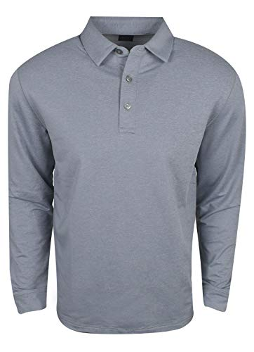 Callaway Performance Long Sleeve Polo Shirt, Medium Grey Heather, 3X-Large