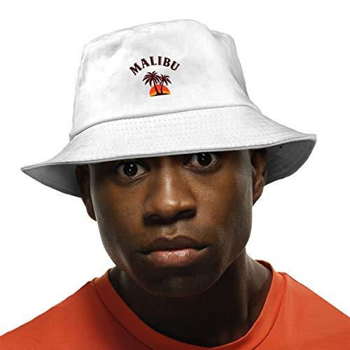 - Yubb7E Malibu Rum Unisex Fisherman Cap Fashion Funny Bucket Hat White