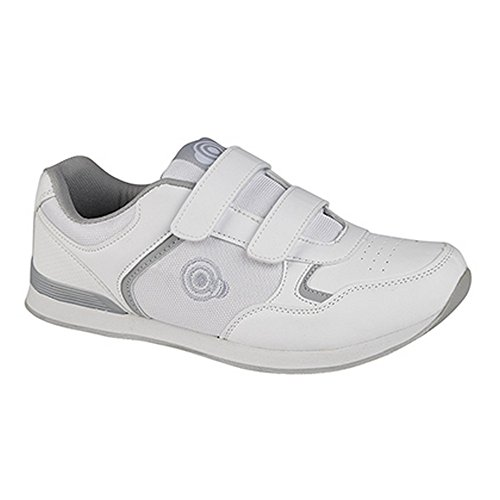 Dek Mens Drive Touch Fastening Trainer-Style Bowling Shoes Grey