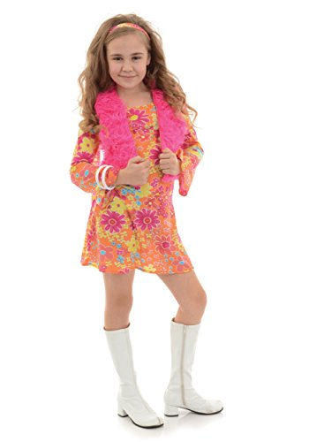 Underwraps Big Girl's Girl's Flower Power Costume - Small Childrens Costume, Multi, Small ()