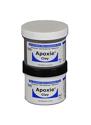 Aves Apoxie Air Dry Clay for Professionals - Self Hardening Modeling Clay, Waterproof Sculpting Clay Made for Detail - No Cracking Modeling Clay - 2 Part Epoxy Clay for Sculpting, Natural (1 Lb)]()