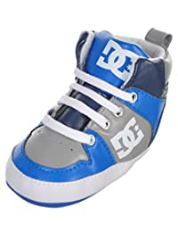 """DC Shoes Baby Boys' """"Logo Stamped"""" Hi-Top Booties"""