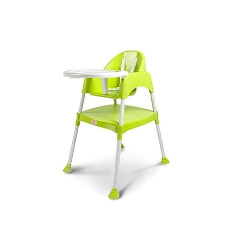 ZXQZ Silla alta for bebés, restaurante verde, silla de ...