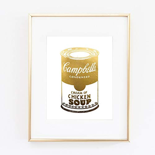 Wall Pop Art Covering Soup Andy Warhol Poster Gold Foil Print Wall Art Home Office Wall Decor poster 0467