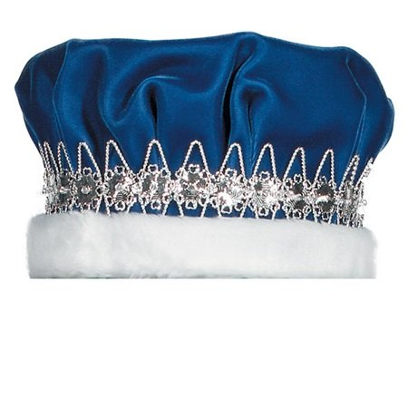 TCDesignerProducts Blue Velvet Crown with Rhinestone Silver Band and Faux Fur by TCDesignerProducts