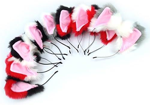 1 Pair Fashion Kids Baby Girls Cat Ears Hairpins Bow  Hair Clip Party DressFBDU