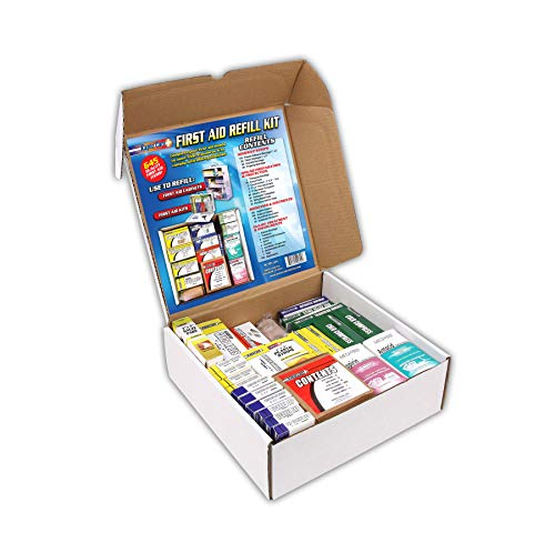 Rapid Care First Aid 93645 Refill Kit for 3 Shelf First Aid Cabinet, 643 Pieces, For Over 75 People ()
