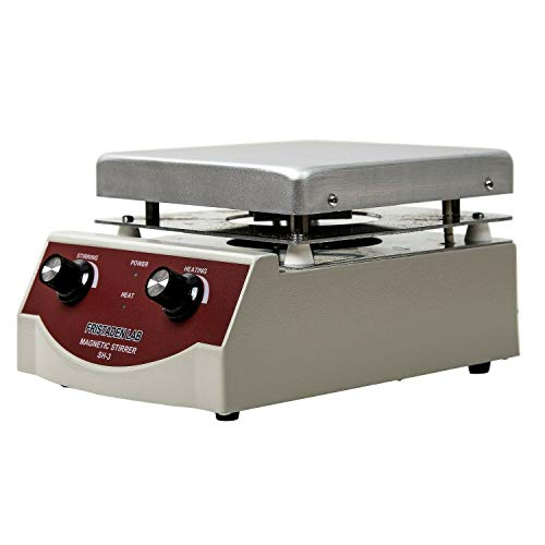 Fristaden Lab SH-3 Magnetic Stirrer Hot Plate Mixer | 100-1600rpm Stirring Speed | 350°C Temperature | 3,000mL Capacity | 1 Year Warranty | Lab Quality Hot Plate Stirrer for Liquid Heating and Mixing
