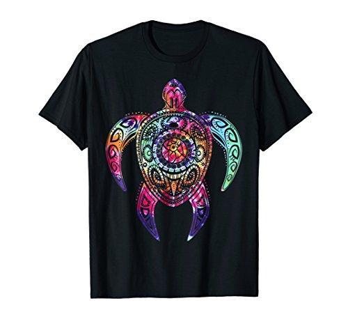 Hippie Tie Dye Shirt, Psychedelic Sea Turtle Tribal Tee