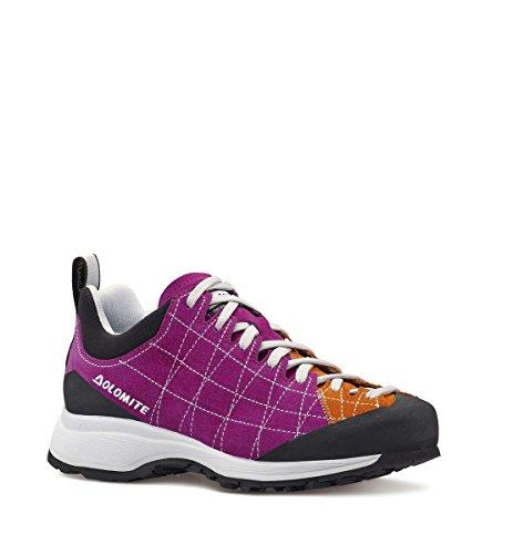 DOLOMITE - Zapatillas de nordic walking de Piel para mujer Rosa VERBENA/MANDARINO 36