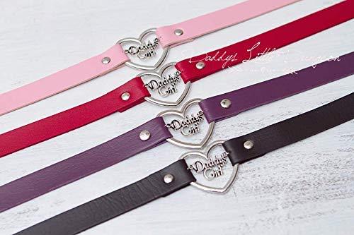 Lolita Daddys Girl Heart Choker Collar Necklace DDLG BDSM ABDL