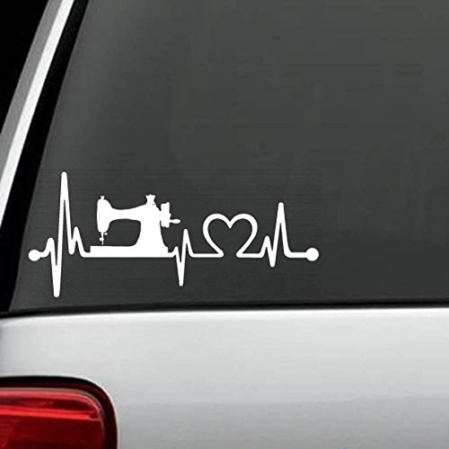 K1090 Sewing Machine Heartbeat Lifeline Decal Sticker