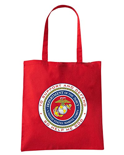 T-Shirtshock - Bolsa para la compra TM0373 CO Marines usa Rojo