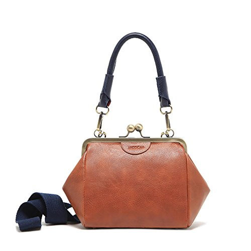 5465cb087f Yafeige Women s Vintage Soft Genuine Leather Tote Shoulder Bag Top ...