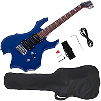 glarry cool burning fire style electric guitar christmas gift for beginner guitar. Black Bedroom Furniture Sets. Home Design Ideas