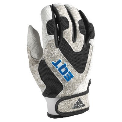 Adidas EQT大人用バッティンググローブ – Smallホワイト/レッド B00TJ0L84E