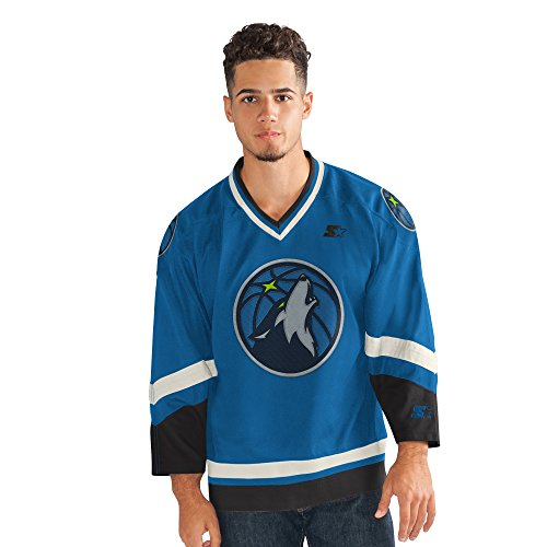 (STARTER Adult Men Legend Hockey Jersey, Navy, 3X)