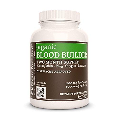 Blood Builder™ Remedys Nutrition MEGA STRENGTH 300 mg / 18000 mg per bottle Organic Vegan VCaps