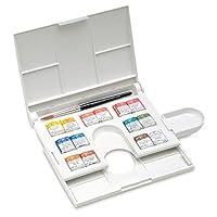 Winsor & Newton - Juego compacto de color de agua profesional, 14 medios moldes