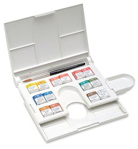 Winsor & Newton Professional Water Colour Compact Set, 14 Half Pans