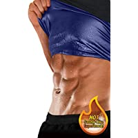 Sweat Shaper Men's Premium Workout Tank Top Slimming Polymer Weight Loss Sauna Vest, Black