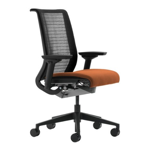 Steelcase Think Office Desk Chair with Black Mesh Back and B