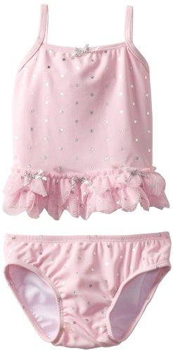 Kate Mack Baby-Girls Infant Splash Swim 2 Piece, Pink, 03 Months - Tankini Kate Mack Nylon