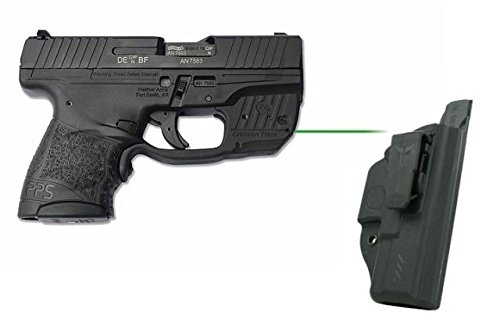 Crimson Trace LG-482G-HBT guard Walther PPS M2 with Blade Tech Holster Boxed Laser Sight, Green (M2 Blade)