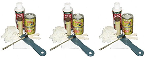 - PC Products 84113 Rotted Wood Repair Kit with Water-Based Hardener, and Epoxy Paste and Putty (3-(Pack))