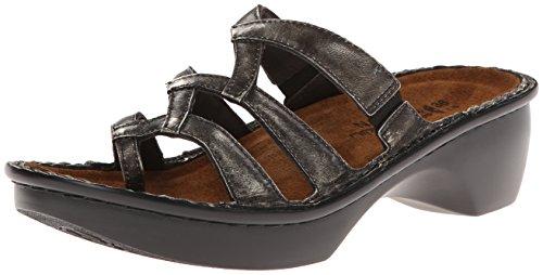 Naot Women's Bilbao Wedge Sandal, Metal Leather, 38 EU/7 M US (Naot Shoes Sandals)