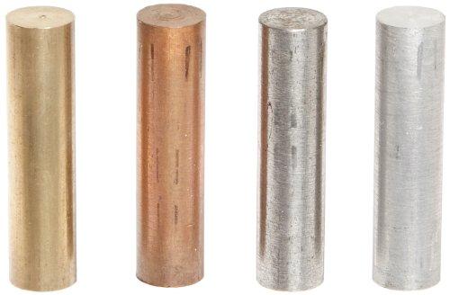 Ajax Scientific 6 Piece Metal Cylinder Set, 10mm Diameter x 30mm (Metal Cylinder)