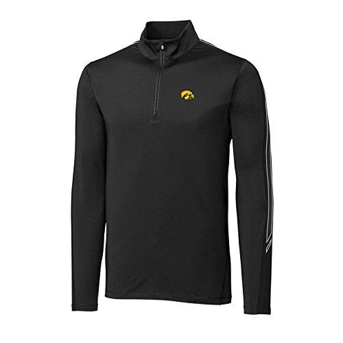 - Cutter & Buck NCAA Iowa Hawkeyes Adult Men CB Drytec Pennant Sport Half Zip, 3X-Large, Black