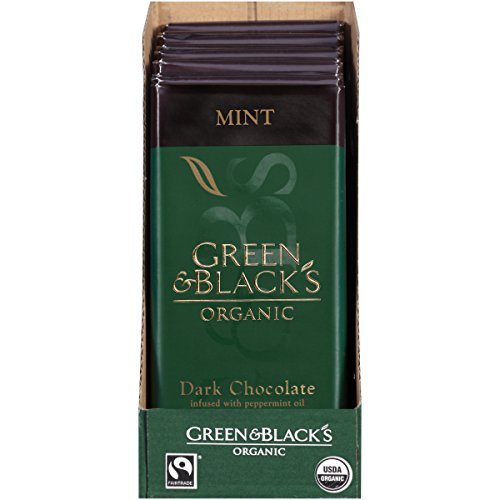 Green & Black's Organic Dark Chocolate with Mint, 60% Cacoa, 3.5 Ounce Bars (Pack of 10)