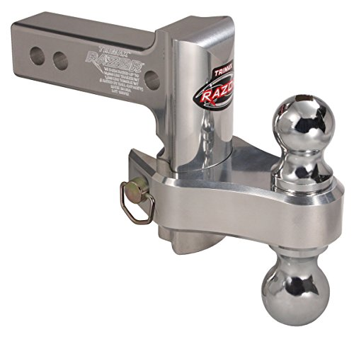 Ball 4in Hitch - Trimax (TRZ4AL-RP) Adjustable Hitch, Aluminum, 4