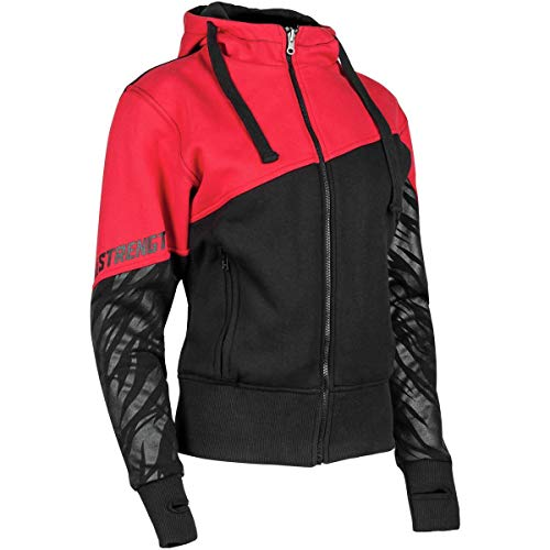 Speed and Strength Cat Out'a Hell 2.0 Armored Hoody Women's Street Motorcycle Jacket - White/Grey / ()