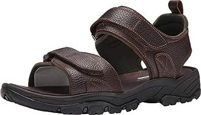 ROCKPORT Men's Rocklake Flat Sandal, Brown/Brown, 9.5 W US