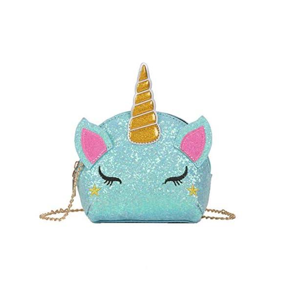TXVSO petit glitter mignon licorne bandoulière sac à main portefeuille sac à bandoulière sac à main fermeture à…