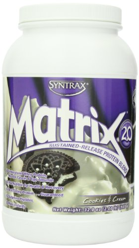 Syntrax Matrix Sustained Release Protein Blend, Cookies and