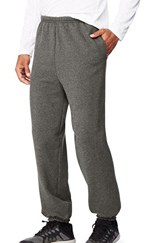 Hanes Men's EcoSmart Fleece Sweatpant, Slate Heather, M