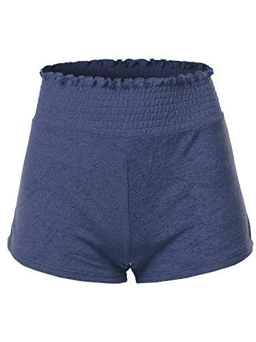 Made by Emma Soft French Terry Running Lounge Active Shorts Navy S