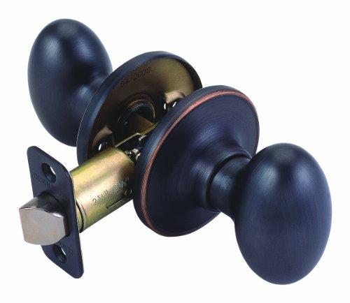 Design House 750570 Egg 2-Way Adjustable Passage Door Knob, Oil Rubbed Bronze