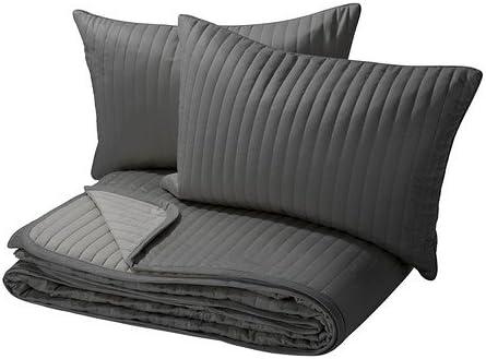 260 x 280 cm 40x60cm GRAU Kissenbezug//-bez/üge Karit Plaid Wendedecke /Überwurf 180x280 // 260x280cm IKEA gesteppte Tagesdecke besonders weich