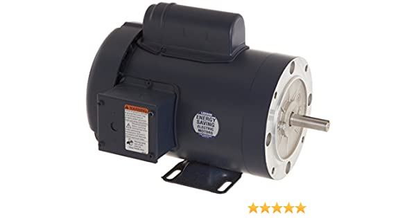 Rigid Mounting 115//208-230V Voltage 1 1//2HP 60Hz Fequency Leeson 110909.00 General Purpose C Face Motor 56C Frame 3600 RPM 1 Phase