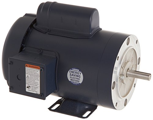 Leeson 110909.00 General Purpose C Face Motor, 1 Phase, 56C Frame, Rigid Mounting, 1 1/2HP, 3600 RPM, 115/208-230V Voltage, 60Hz Fequency