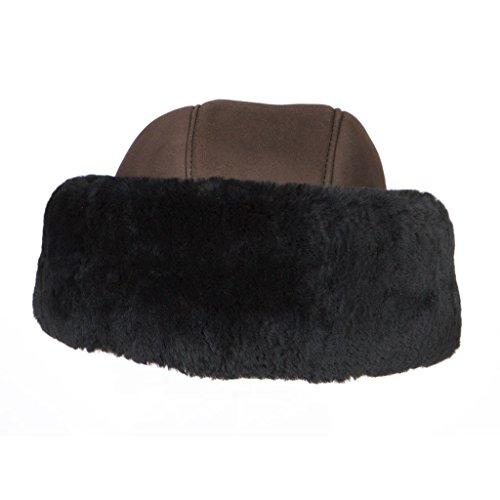 Tsarina Sheepskin Shearling Hat By Susan Bradford (Brown)