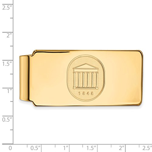 Collegiate Money Official UMS Yellow Crest Gold 14K of Sterling LogoArt Mississippi Silver Clip w University Plated Licensed xwRqnfTUC