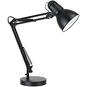 Globe Electric 35 Heavy Base Architect Spring Balanced Swing Arm Desk Lamp Black Finish
