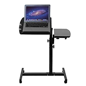 Amazon Com Homgrace Adjustable Height Rolling Laptop Desk