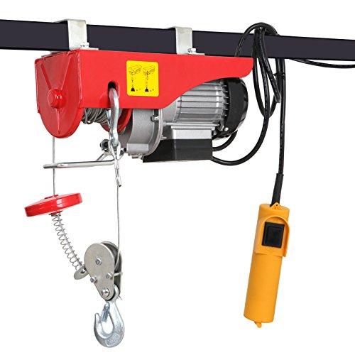 F2C 440LBS Overhead Lift Electric Hoist Crane Industrial Commercial Chain Winch Wire Cable Hoist Garage Auto Shop W/Remote Control ()