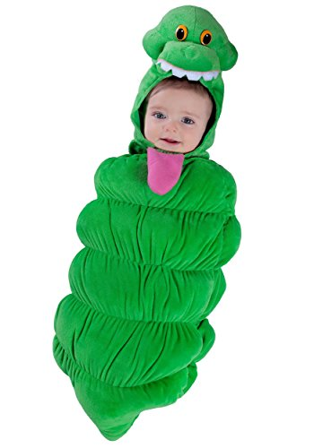 Princess Paradise Baby Boys' Ghostbusters Slimer Swaddle Deluxe Costume, As Shown, 0/3M